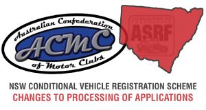 ACMC PRESS RELEASE – CHANGES TO NSW CVS VEHICLE REGISTRATION PROCESS